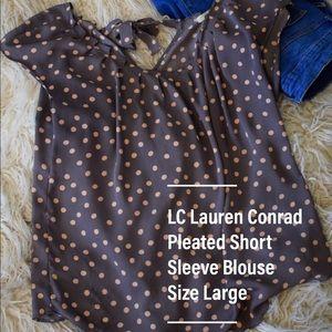 LC Lauren Conrad Pleated Blouse